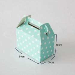 Lonchera mini puntos aguamarina