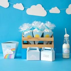 Lonchera mini nubes personalizada