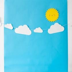 Banderín sol y nubes
