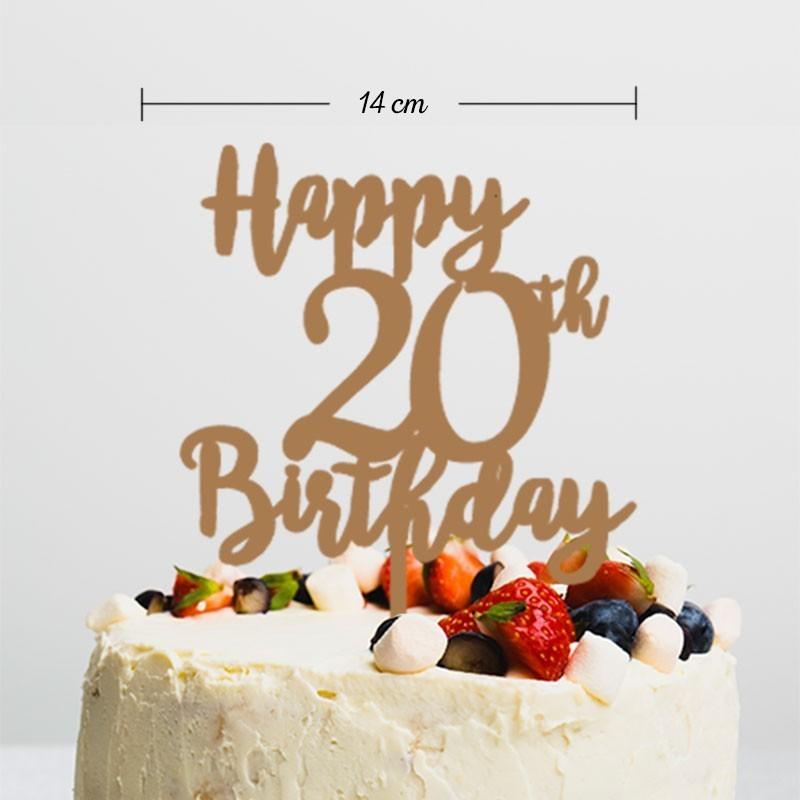 Topper pastel Happy Birthday