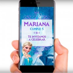 Imagén: Video Invitaci�n Frozen