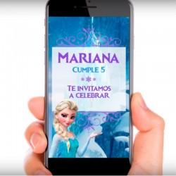 Imagén: Video Invitación Frozen