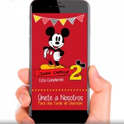 Video Invitación Mickey