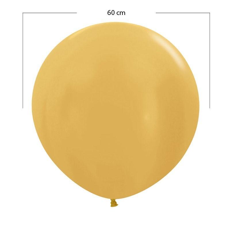 Globo grande dorado - 60 cm