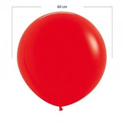 Globo grande rojo mate - 60 cm