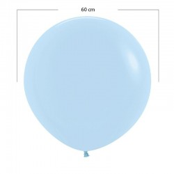 Imagén: Globo grande azul pastel - 60 cm