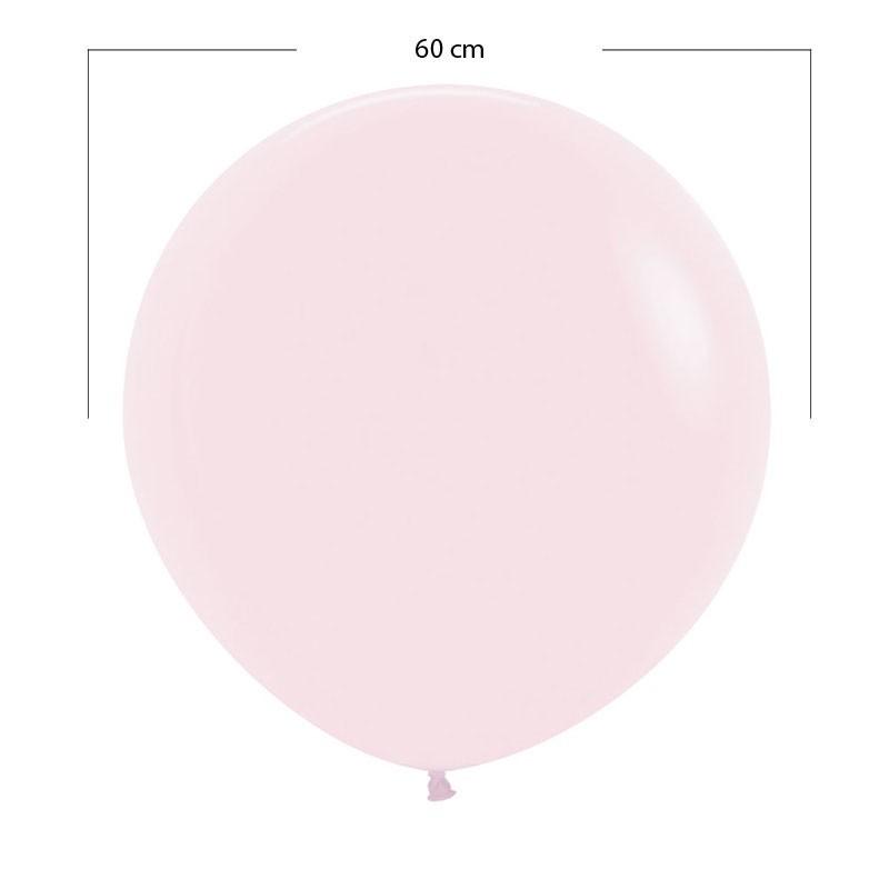 Globo grande rosado pastel - 60 cm