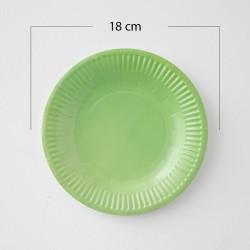 12 Platos de cartón verde limón