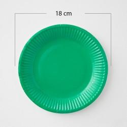 12 Platos de cartón verde selva