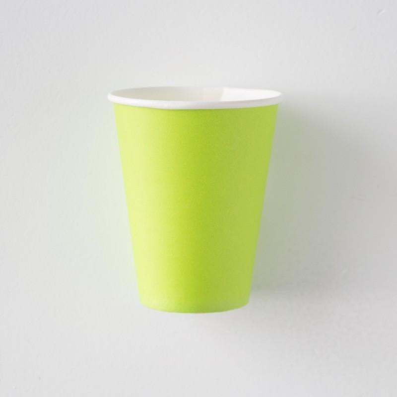 10 Vasos verde limón