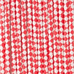 Pitillos de papel cuadros rojo