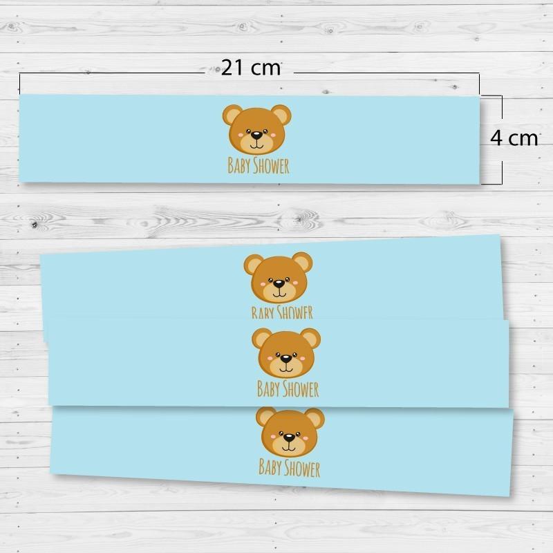 Adhesivos rectangulares oso (4 unidades)