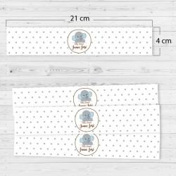 Adhesivos rectangulares elefante (4 unidades)
