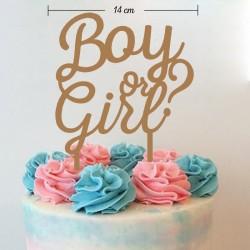 Topper revelación de género bebé