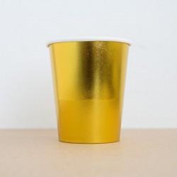 20 vasos dorados