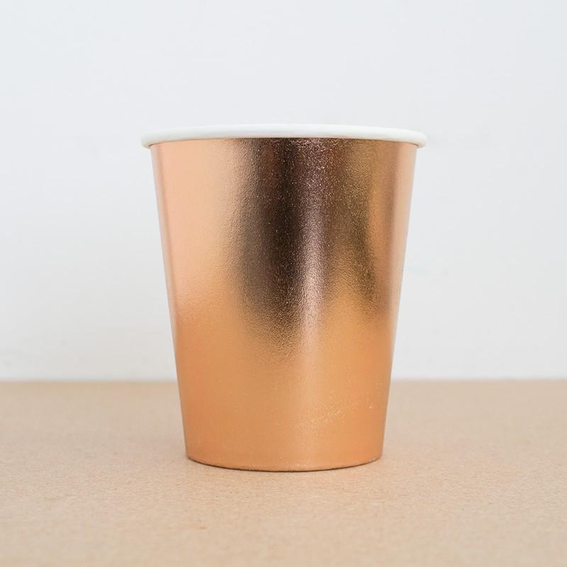 20 vasos oro-rosa