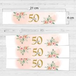 Adhesivos rectangulares 50 años