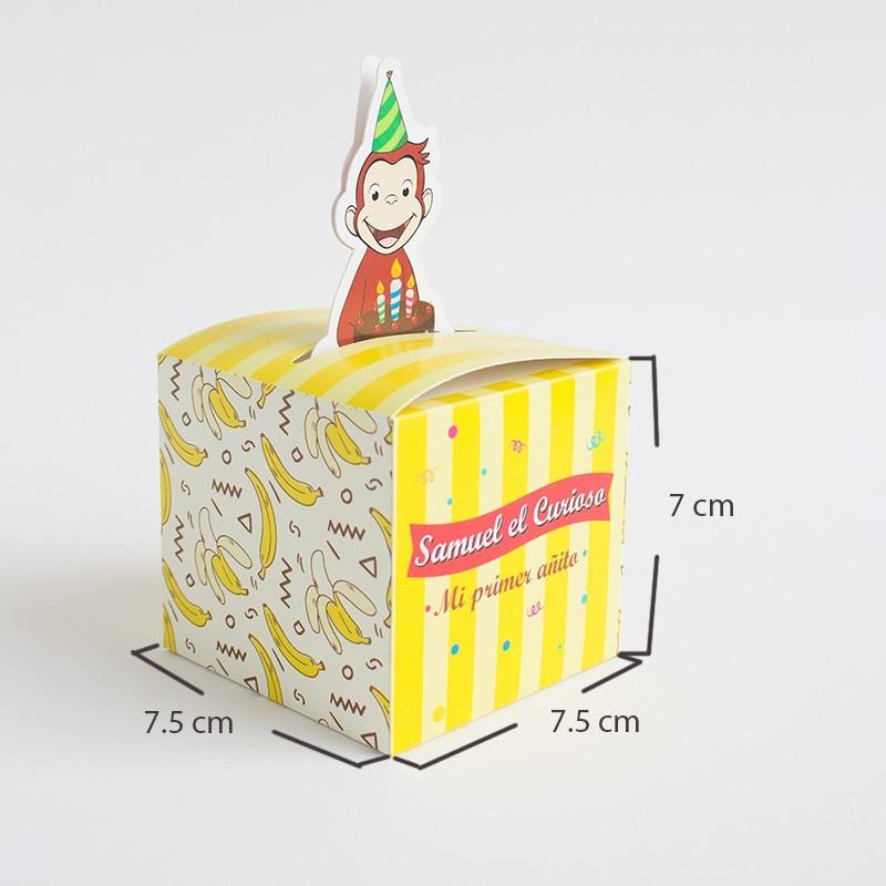 Cajita personalizada cumpleaños Jorge el curioso