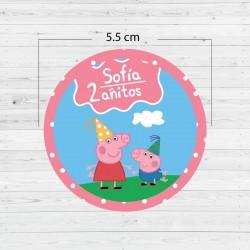 Etiquetas adhesivas Peppa Pig