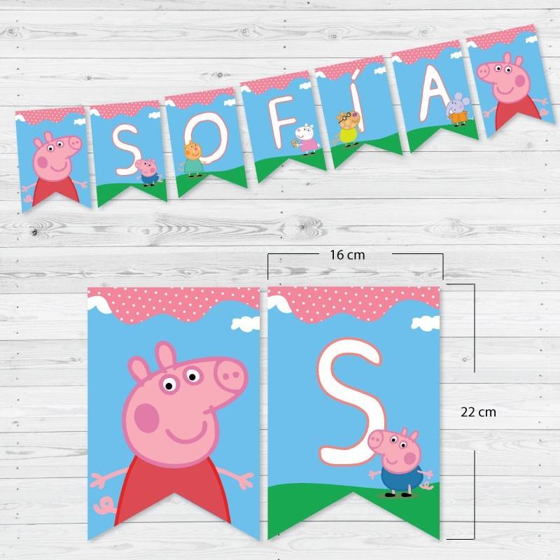 Decoración cumpleaños Peppa Pig