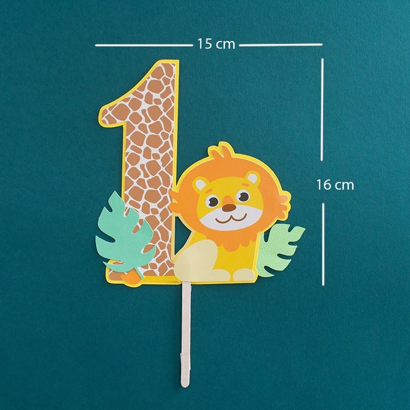 Topper torta cumpleaños safari