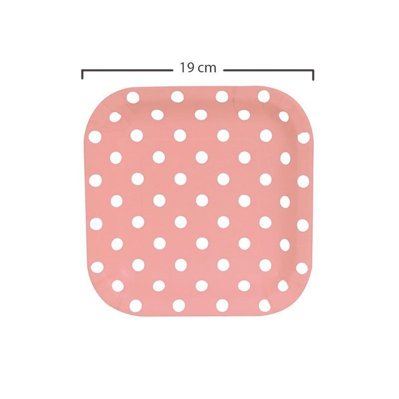Platos puntos rosados