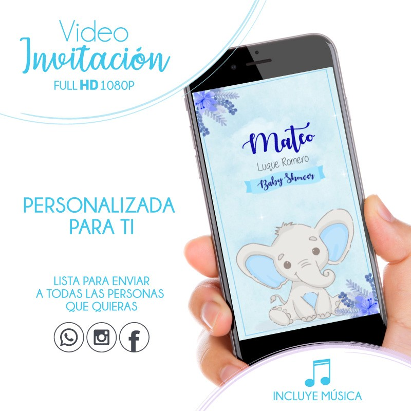 Video Invitation Baby Shower