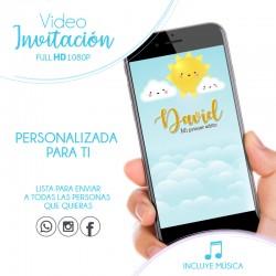 Sunshine Birthday Video Invitation
