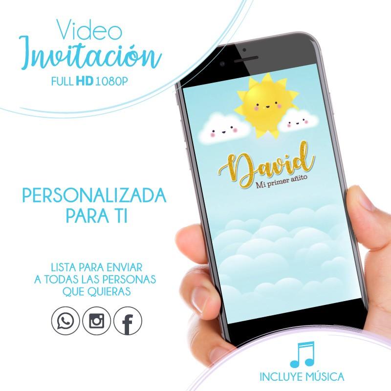 Convite Digital Chuva de Amor Menino