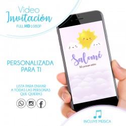 Video Invitación Nubes Niña