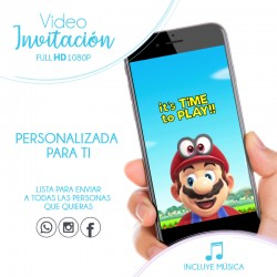 Super Mario Video Invitation