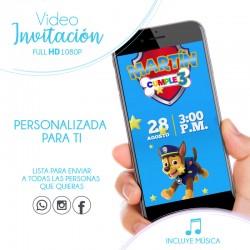 Paw Patrol birthday video invitation