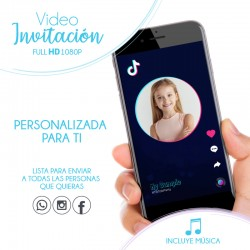 Video Invitation TikTok With Photo