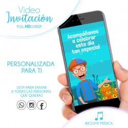 Blippi Digital Invitation