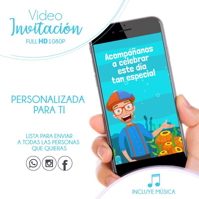 Blippi Convite Animado