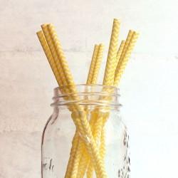 Pitillos de papel zigzag amarillos