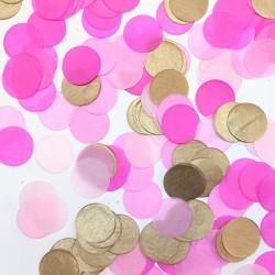 Confeti rosa y oro