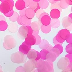 Confeti tonos rosa