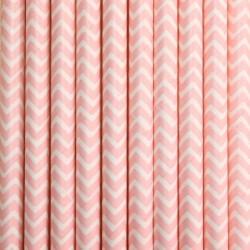 Pitillos de papel zigzag rosados