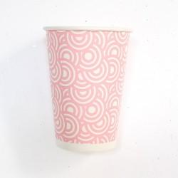 Vasos círculos rosa