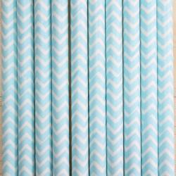 Pitillos de papel ziz zag azul