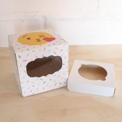Caja para cupcakes emoticón