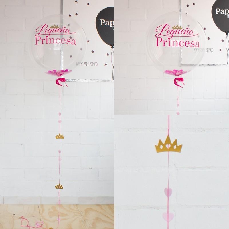 Globo decorado pequeña princesa