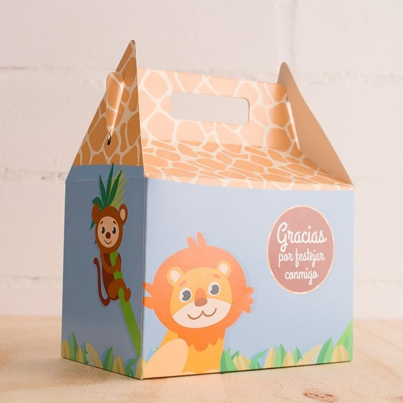 Caja para sorpresas animalitos safari