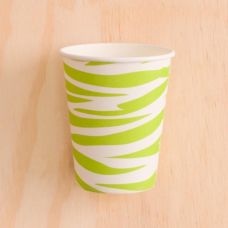 Vasos animal print verde