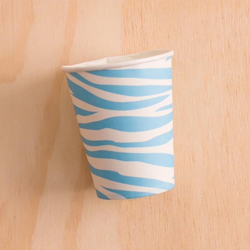 Vasos animal print azul