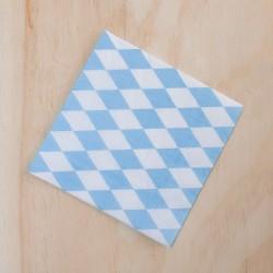 Imagén: Servilletas x 20 rombos azules