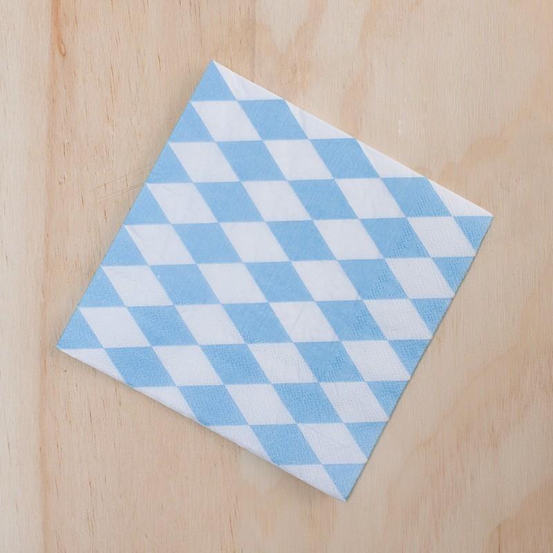 Servilletas x 20 rombos azules
