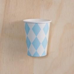 12 Vasos rombos azules