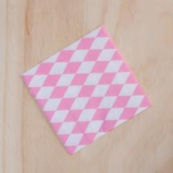 Servilletas x 20 rombos rosa claro